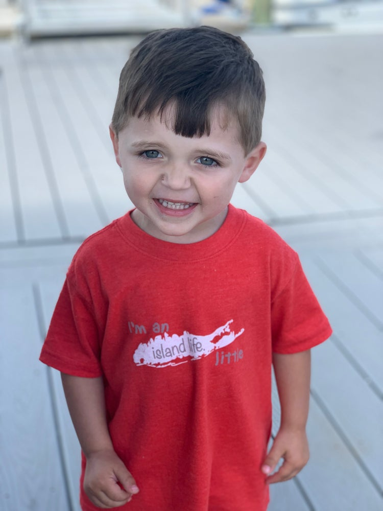 "Image of Toddler Tee ""I'm an island life little"" - Red"