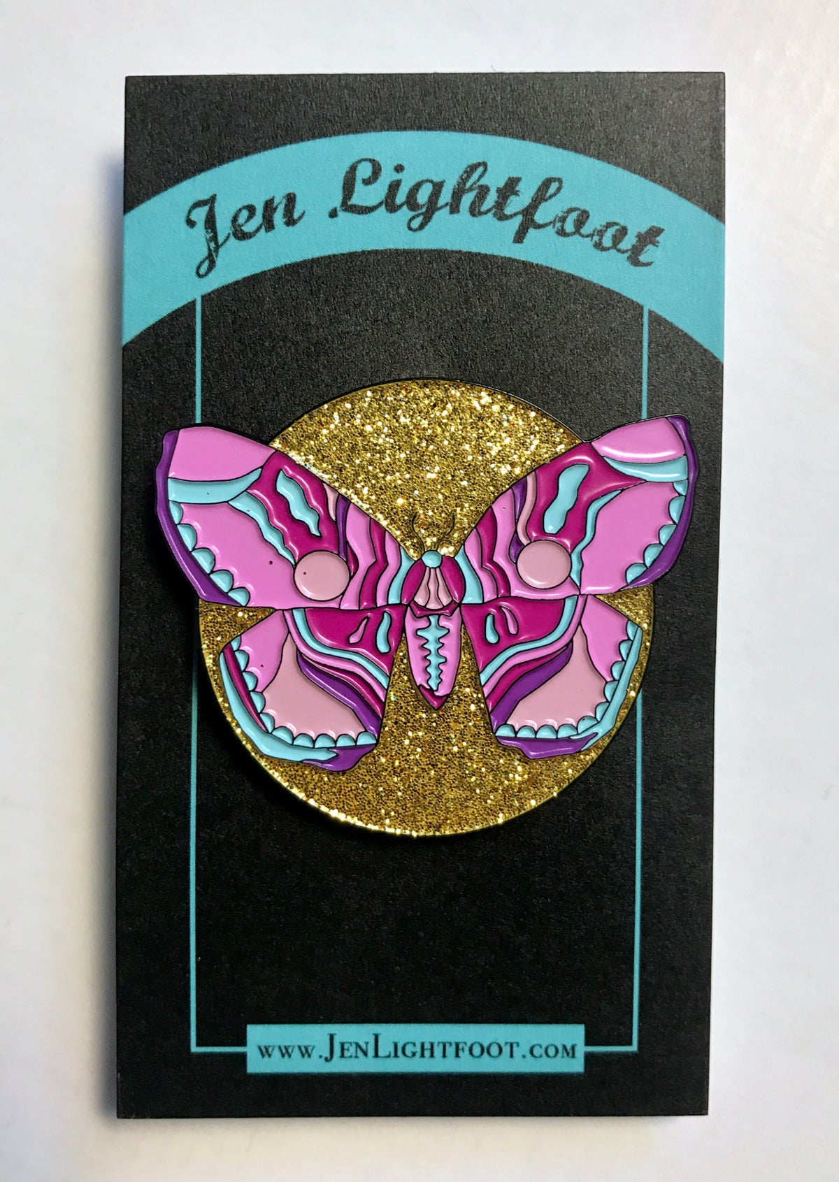 Image of Brahmin Moth Enamel Pin