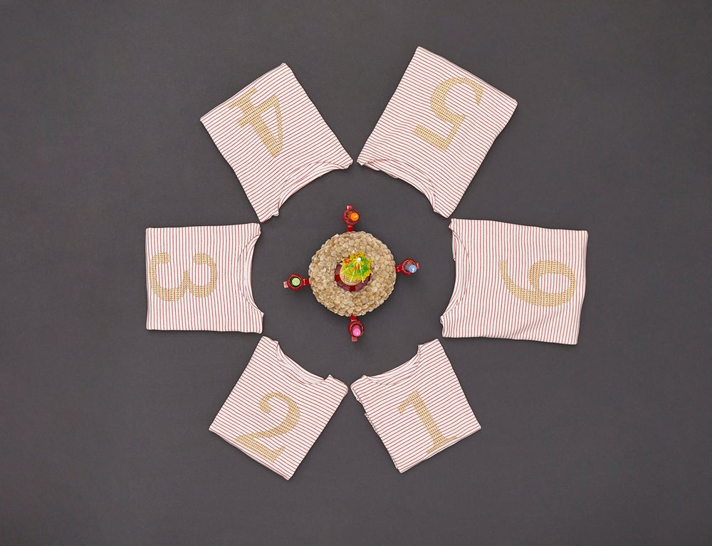 Image of Zahlenshirt mit goldener Zahl 1, 2, 3, 4, 5 oder 6 Art.266146