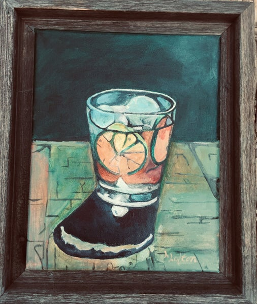 Image of L0020 It's CockTail Time - Original Acrylic