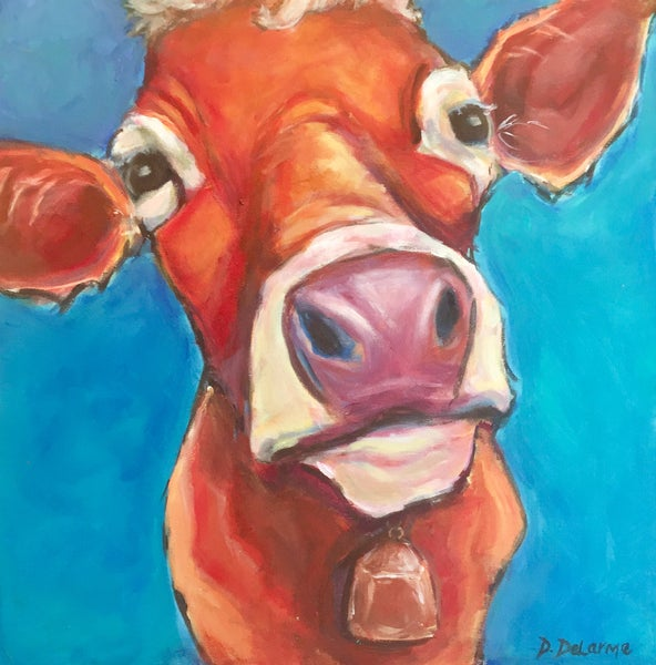 Image of DD0040 - The Curious Cow - Original Acrylic
