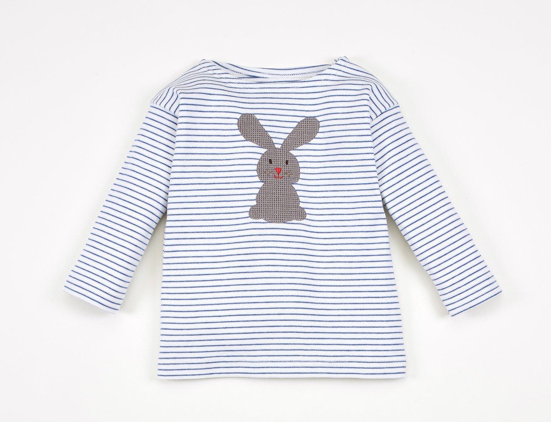 Image of T-Shirt blau gestreift mit Hase Art. 311248