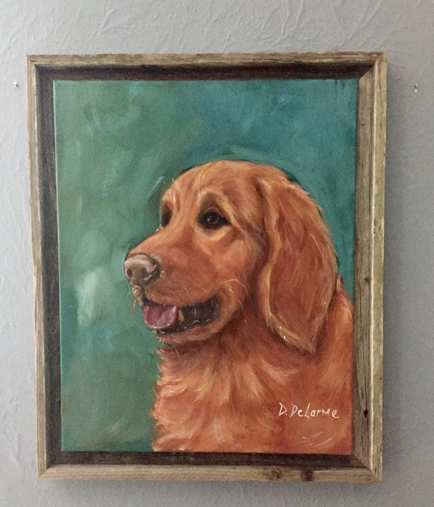Image of DD0035 Golden Dog - Original Acrylic