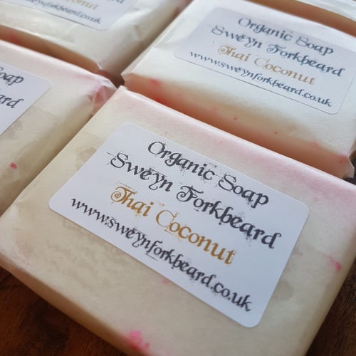 Image of Soap Thai Coconut with Natural Coconut Shavings (Palm Oil Free)