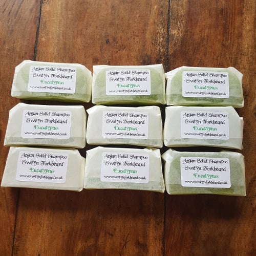 Image of Eucalyptus Solid Shampoo with Argan Oil 100% Organic