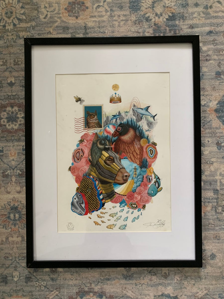 """Image of """"Im growing as slow as I can"""" Framed Original painting"""