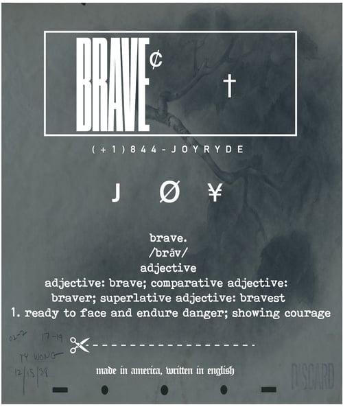 Image of BRAVE CANVAS HOODIE