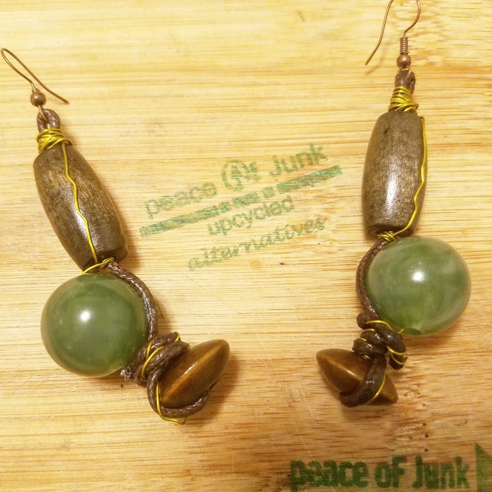 Image of Green Mother Earrings