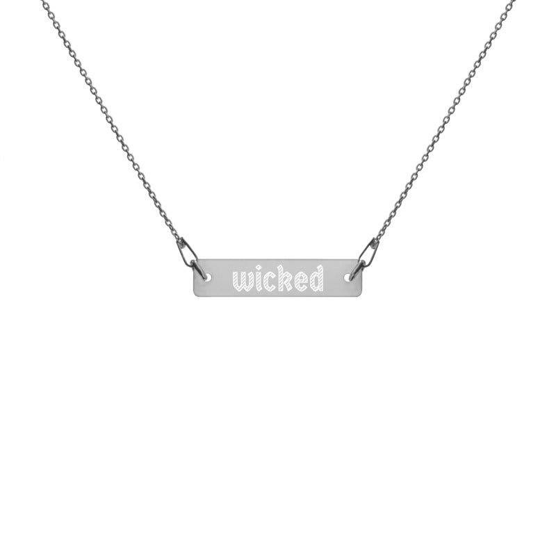 Image of Wicked Engraved Necklace