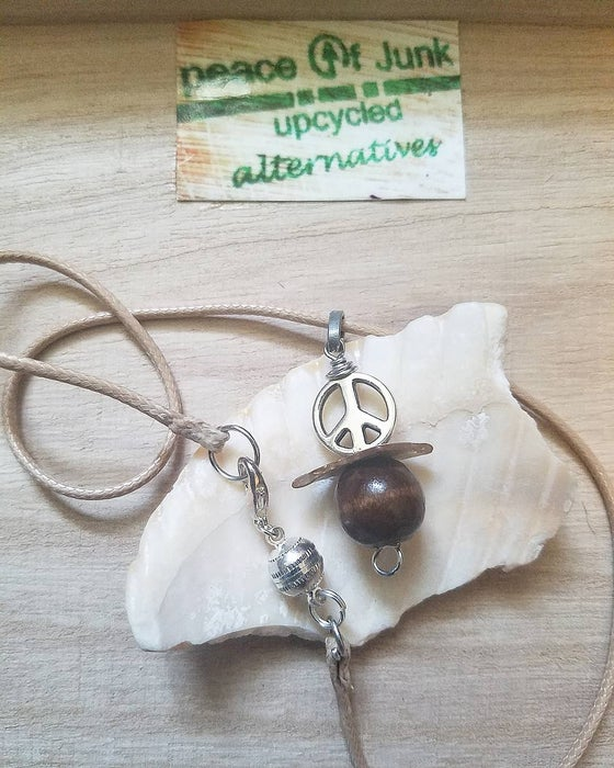 Image of Peace of Wood Necklace