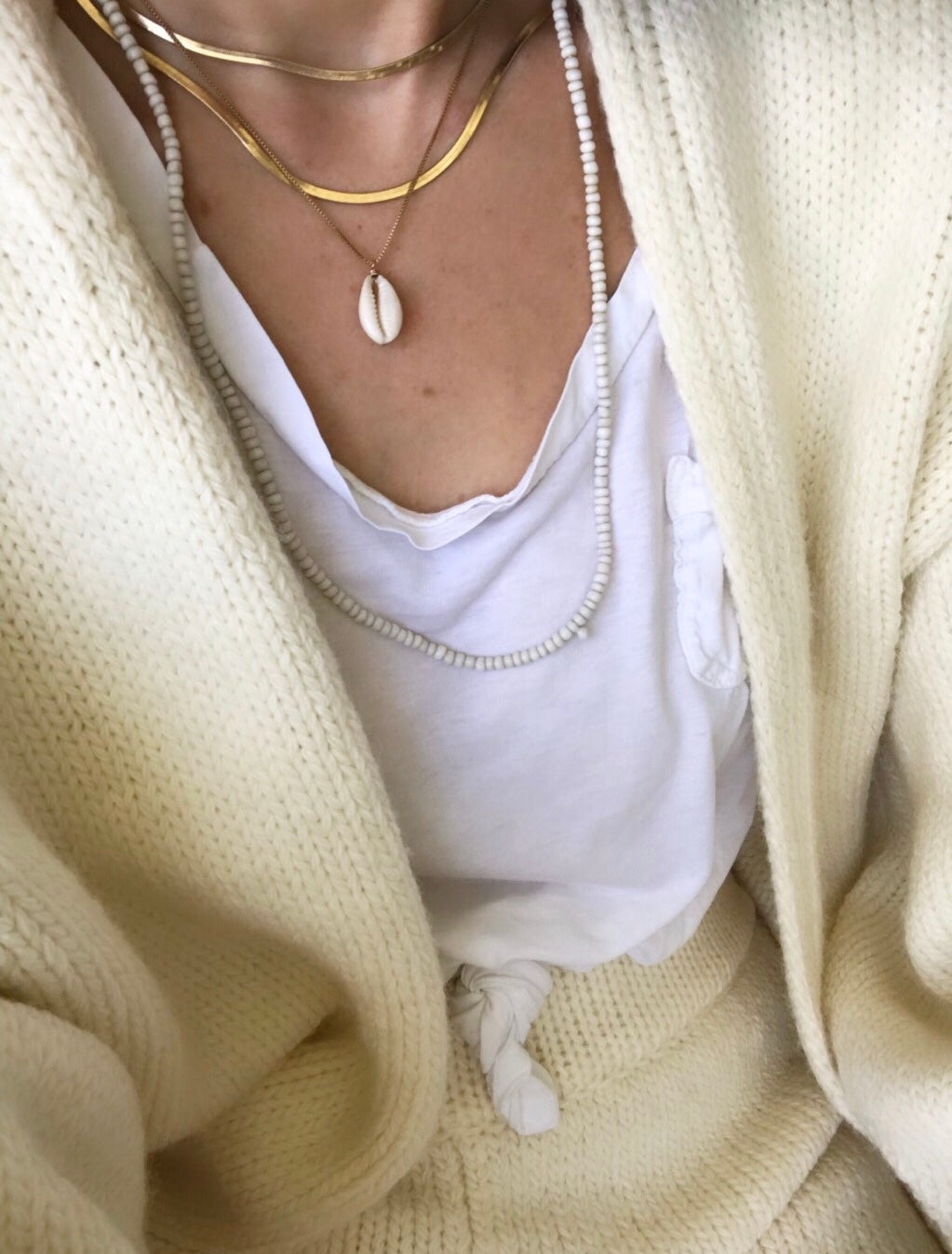 Image of Cowrie Shell Gold Chain Necklace