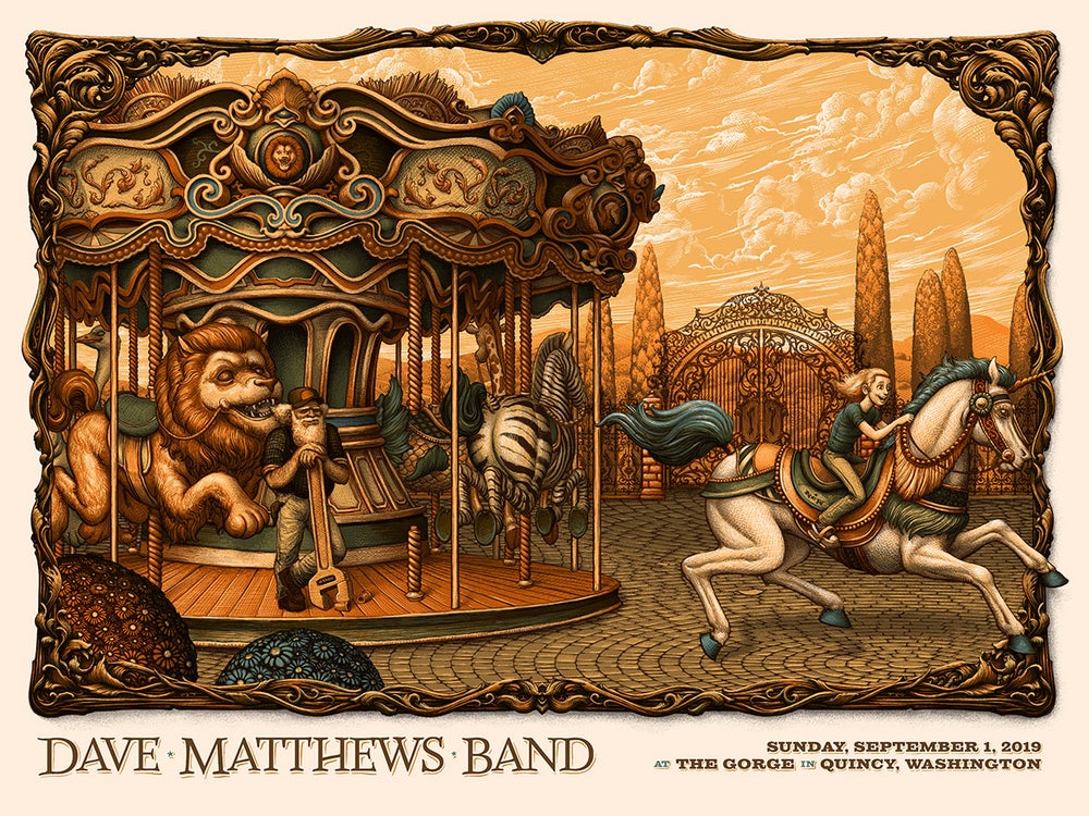 Image of Dave Matthews Band Gig Poster The Gorge, Quincy WA