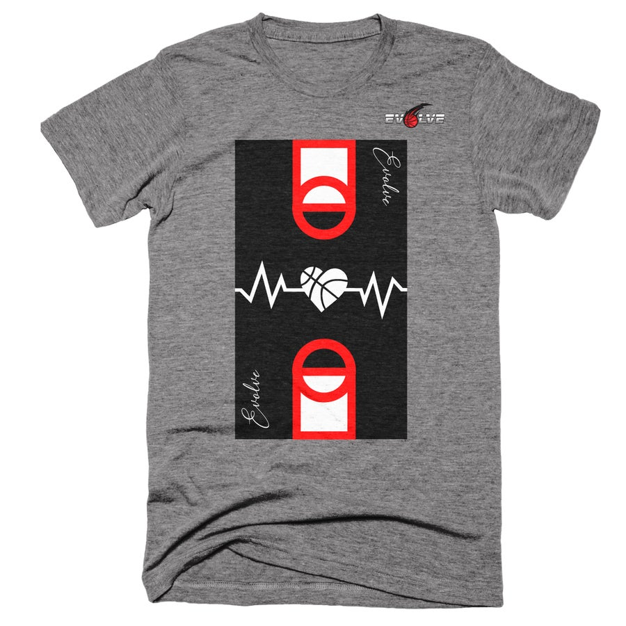 Image of Grey Evolve Heartbeat Shirt