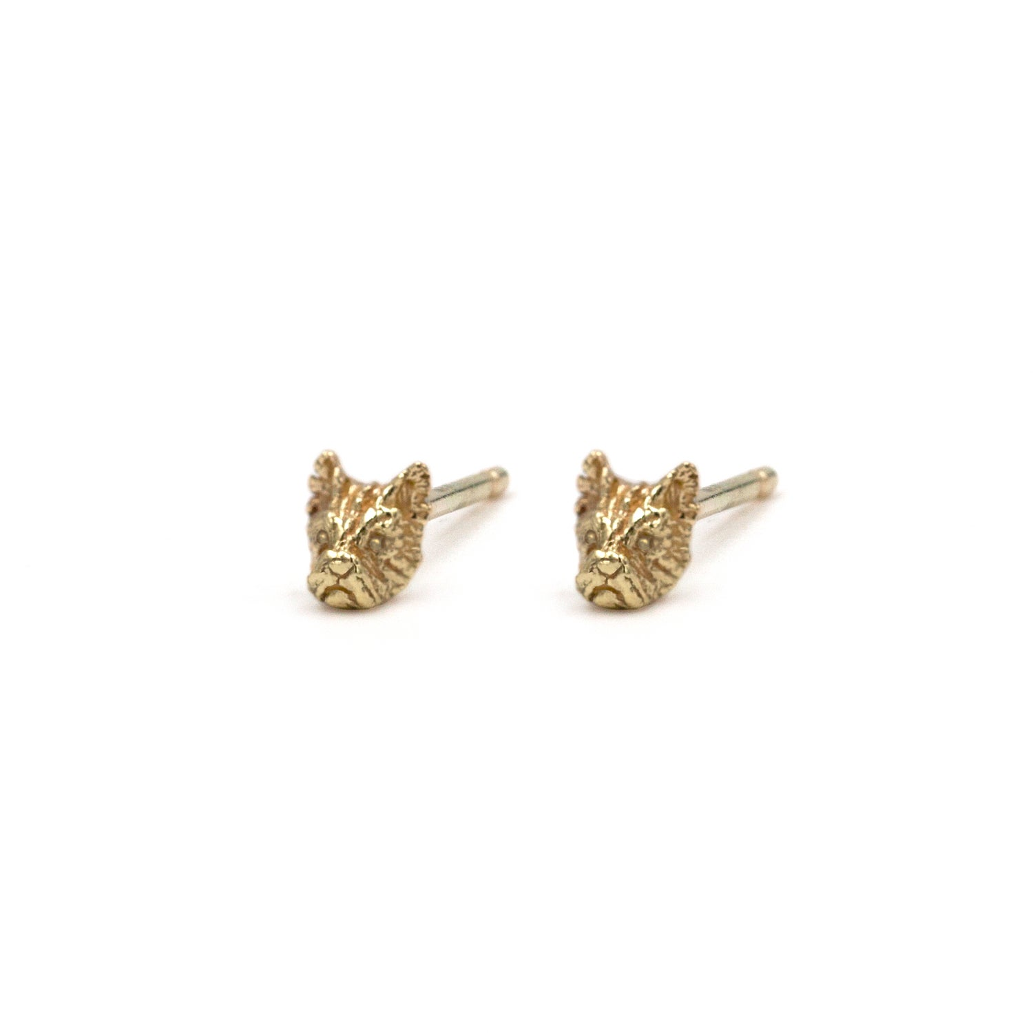 Image of Ralphy the Westie Studs- 14K Gold