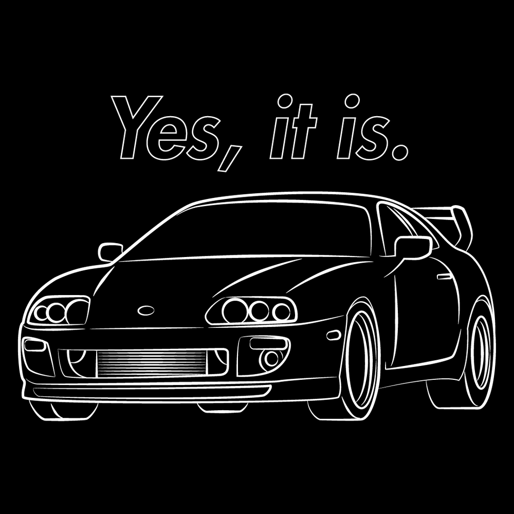 Image of Yes, It Is. Supra Shirt