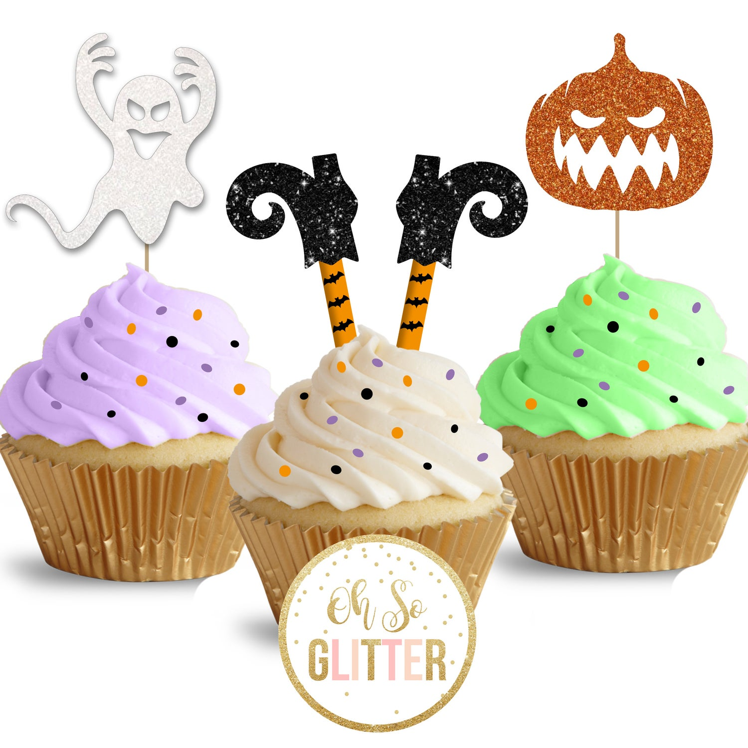 Image of Halloween cupcake toppers