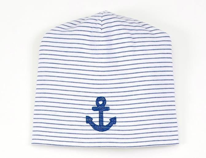Image of Mütze blau gestreift mit Anker Art.827248