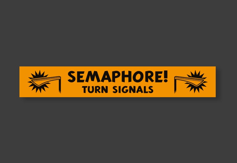 Image of Semaphore Turn Signals magnet or sticker