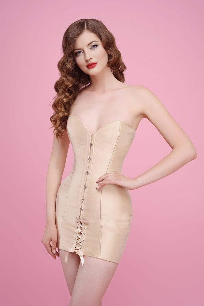 Image of IVORY SATIN DRESS