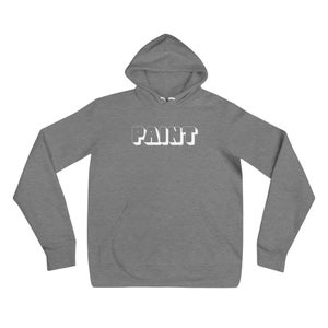 Image of PAINT Hoodie, Grey (white or red lettering available)