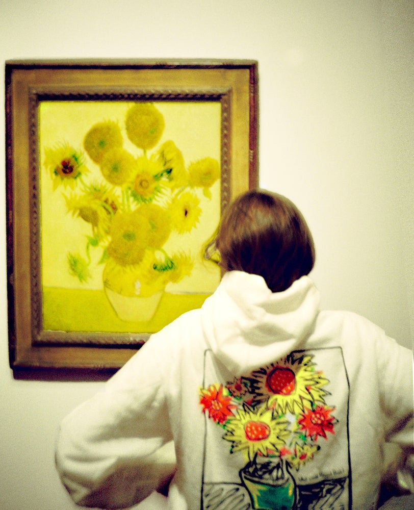 "Image of WHITE ""WHAT WOULD VINCENT THINK?"" HOODIE"