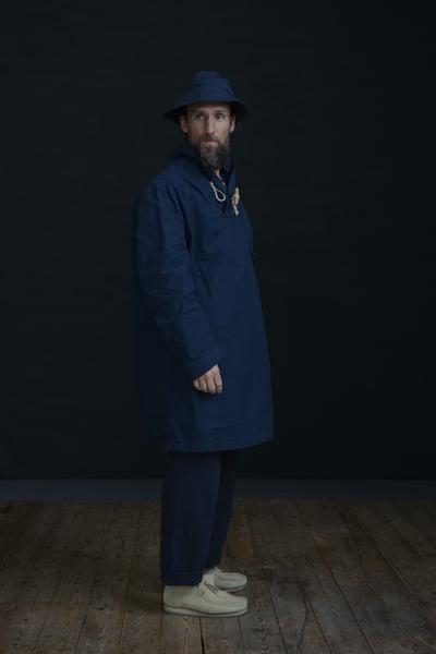 Image of MENAI TOGGLE TOP - Indigo £250.00