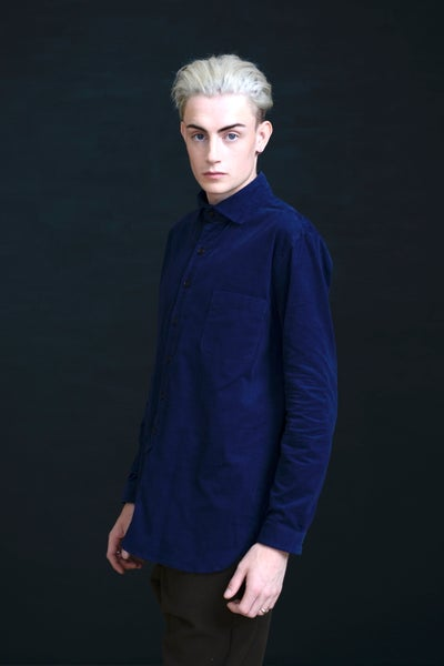 Image of HUGENOIT SHIRT CORDUROY - Navy
