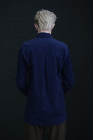 Image of HUGENOIT SHIRT CORDUROY - Navy £190.00