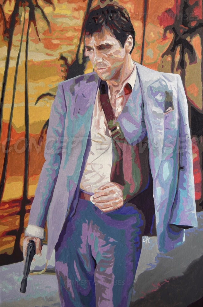 Image of Tony Montana 'Loyal To The Game' Hand Painted Original