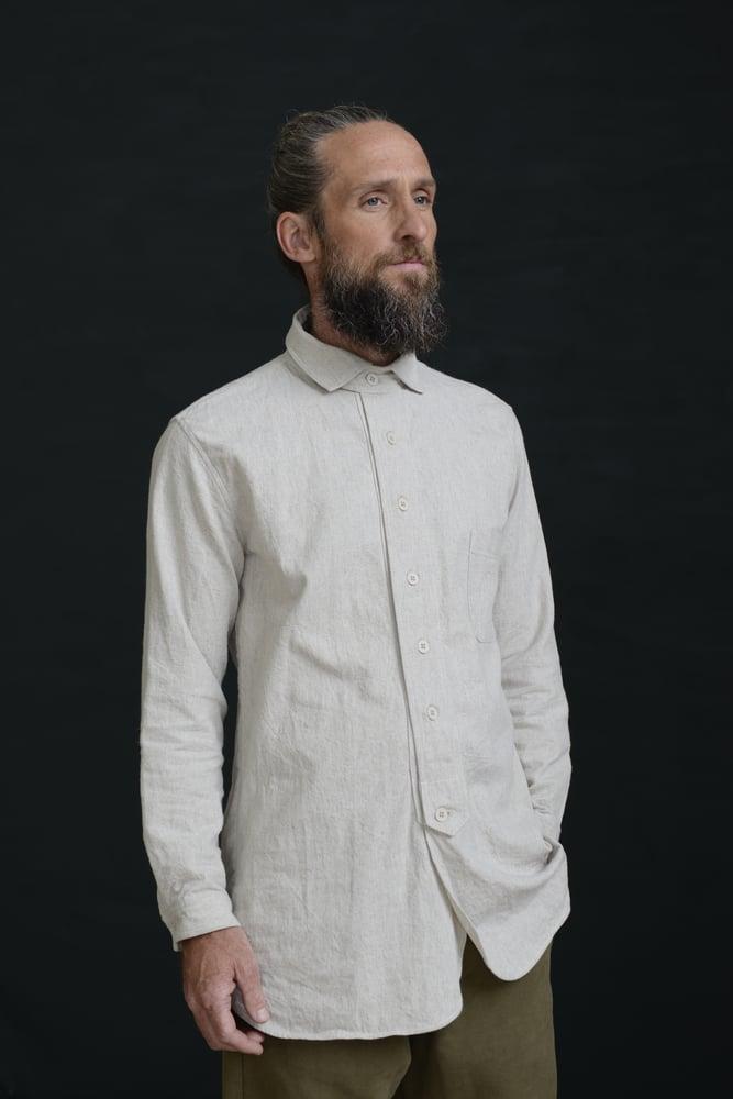 Image of HUGENOIT SHIRT cotton&Linen - Stone