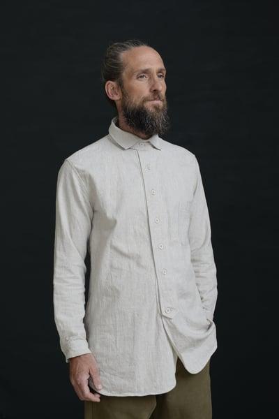 Image of HUGENOIT SHIRT cotton&Linen - Stone £195.00