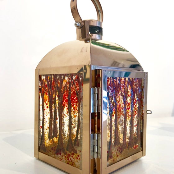 Image of Autumn Trees copper lantern