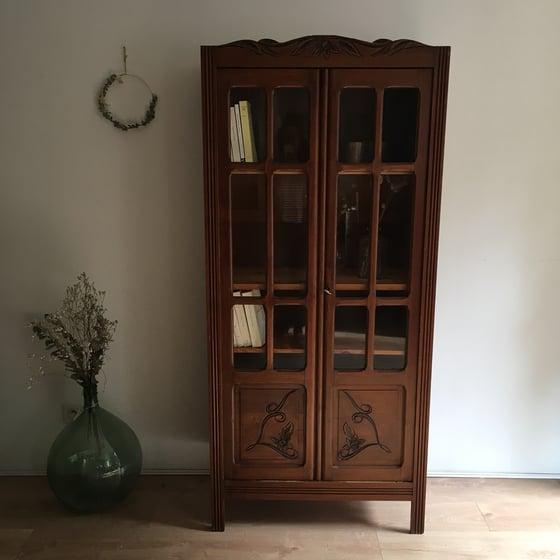 Image of Louise, armoire / bibliothèque vitrée (brut ou à personnaliser)