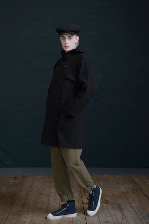 Image of NEW FISHERMAN COAT - BLACK