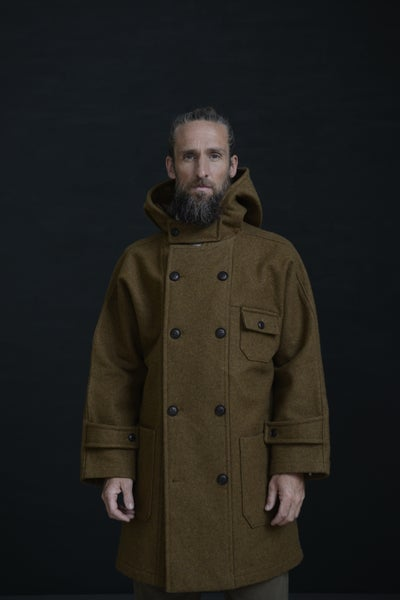 Image of THE NEW FISHERMAN COAT - Tan Brown £430.00