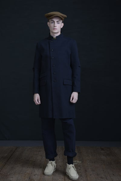 Image of EAST END COAT - BLACK COTTON £320.00