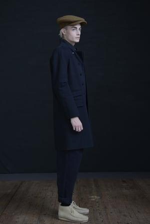 Image of EAST END COAT - BLACK COTTON £320.00