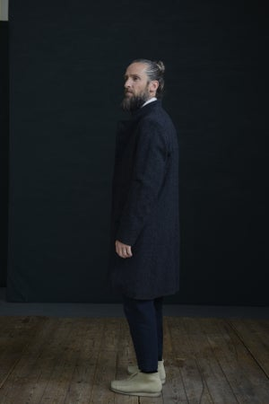 Image of EAST END COAT - Charcoal Wool