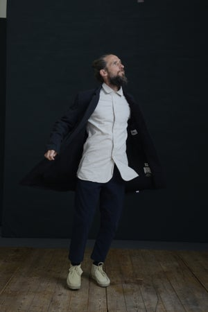 Image of EAST END COAT - Charcoal Wool £350.00
