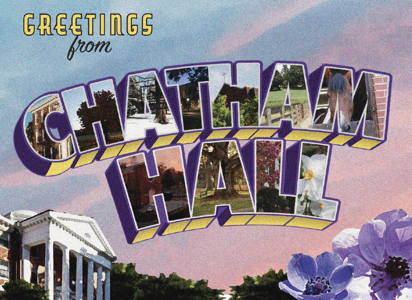 Image of Greetings From Chatham Hall Postcards Pk of 10