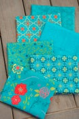 Image of Wildflower Boutique Teal Fat Quarter Bundle