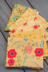 Image of Wildflower Boutique Yellow Fat Quarter Pack