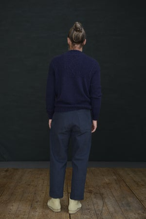 Image of WELSH FISHERMAN JUMPER - NAVY £165.00