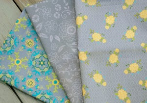 Image of Wildflower Boutique Grey Fat Quarter Pack