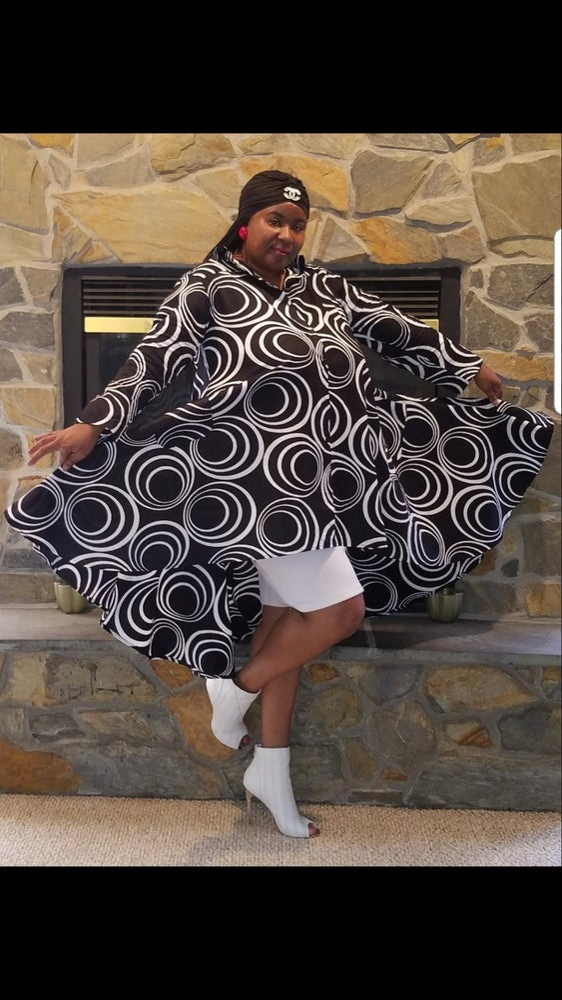 Image of Jacki Oooooohhhh- Hi-Lo Blouse/Dress  Ones Size Fits Med to 2X