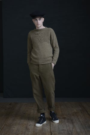 Image of WELSH FISHERMAN JUMPER - PEBBLE £165.00