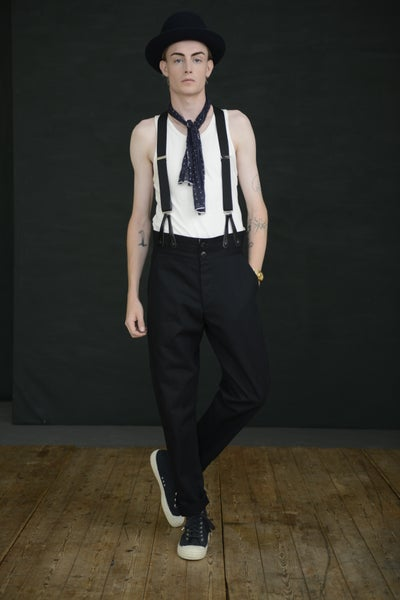 Image of HIGH WAISTED TROUSER - BLACK