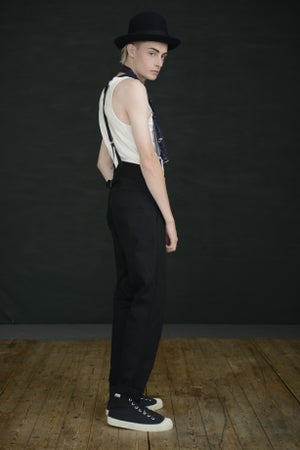 Image of HIGH WAISTED TROUSER - BLACK £250.00