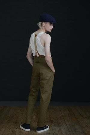 Image of HIGH WAISTED TROUSER - FAWN colour £250.00
