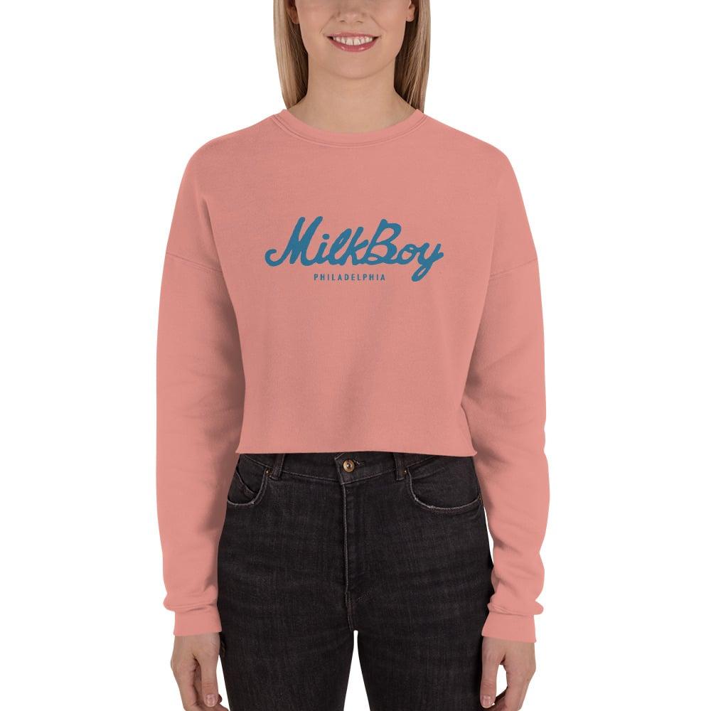 Image of Women's Fleece Crop Sweatshirt Mauve